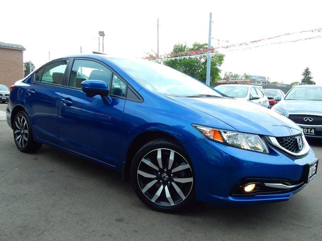 2015 Honda Civic Touring.Navi.Reverse/Blind Spot Cam.Leather.Roof in