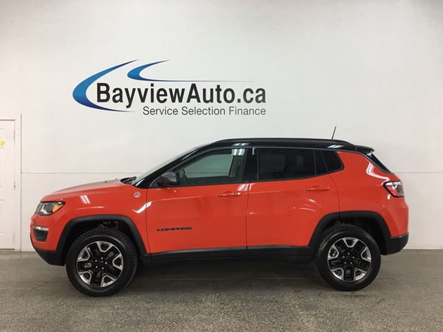 2018 JEEP Compass Trailhawk - 4X4! NAV! PANOROOF! PWR LIFTGATE! 17,000KMS! in Belleville, Ontario