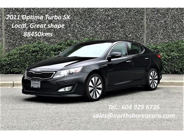2011 KIA Optima Turbo SX at Leather, Navi, Roof in North Vancouver, British Columbia