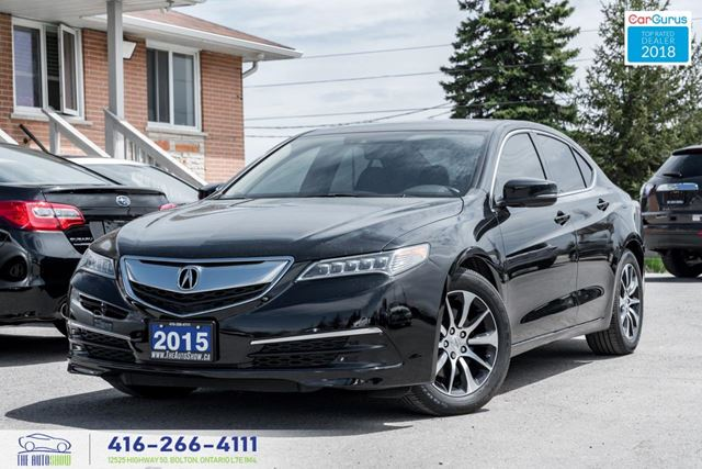 2015 Acura TLX Tech*NavGps 1Owner CleanCarfax Certified Financing in Toronto, Ontario