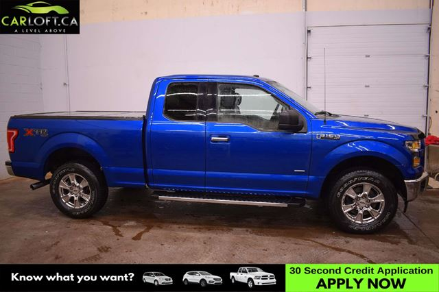 2017 FORD F-150 XLT 4X4 - 6 SEATER * BACK UP CAM * TRI-FOLD COVER  in Kingston, Ontario