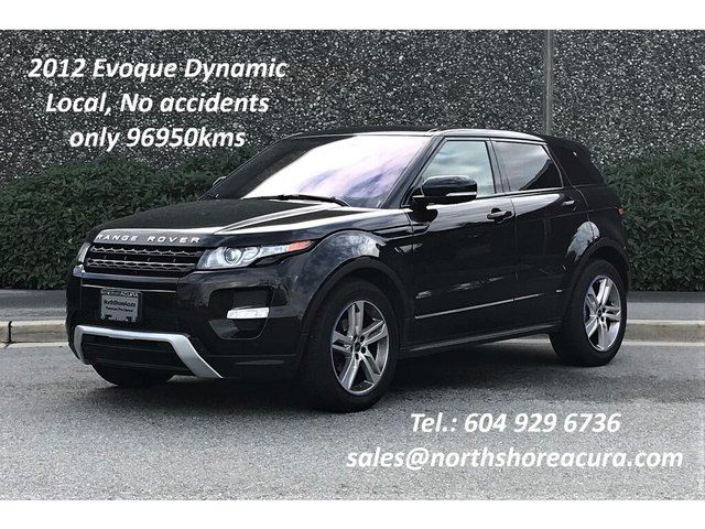 2012 LAND ROVER Range Rover Evoque Dynamic Local, No Accidents in North Vancouver, British Columbia