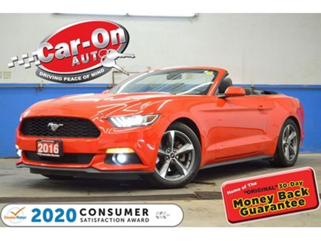 2016 FORD Mustang 300 HP RACE RED CONVERTIBLE REAR CAM PADDLE SHIFT in Ottawa, Ontario