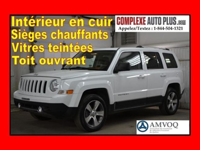 2017 JEEP PATRIOT High Altitude AWD 4x4 *Cuir, Toit ouvrant, Mags in Saint-Jerome, Quebec