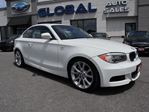 2012 BMW 1 Series 135i Coupe 300 Hp. WHITE/RED NAVIGATION , LIKE NEW in Ottawa, Ontario