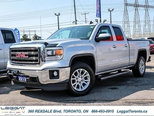 2015 GMC SIERRA 1500 SLE/Double Cab/4x4/Rear View Camera in Rexdale, Ontario