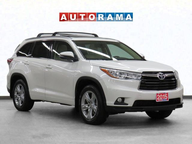 2015 TOYOTA Highlander Limited 4WD Navigation Leather PSunroof BCam 7Pass in North York, Ontario