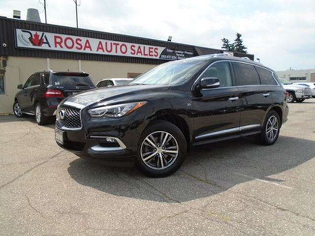 2016 INFINITI QX60 AWD 7 PASS LOW KM NO ACCIDENT LEATHER NEW 4 BRAKES in Oakville, Ontario