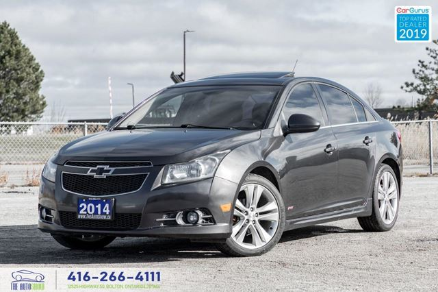 2014 Chevrolet Cruze RS LT LEATHERSUNROOF CERTIFIED SERVICED WE FINANCE in Toronto, Ontario