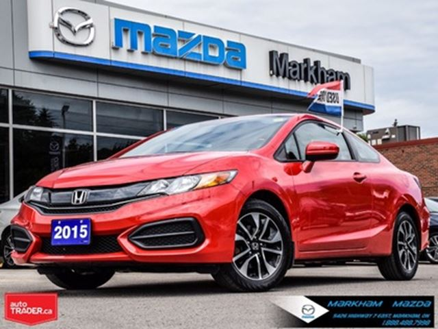 2015 HONDA Civic EX Accident Free 2 Door Coupe Finance Available in Markham, Ontario