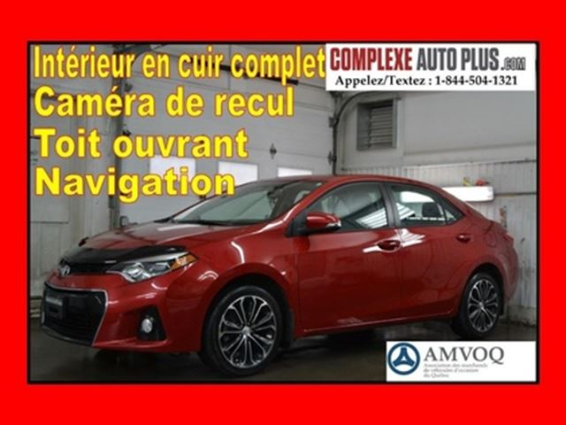2015 Toyota Corolla S *GPS,Full Cuir,Toit ouvrant,Mags in