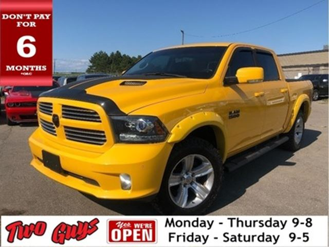 2016 DODGE RAM 1500 Sport  Stinger Pkg   Nav   Sunroof  Crew  Hemi in St Catharines, Ontario
