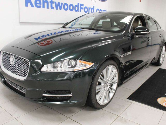 2011 JAGUAR XJ SERIES XJ SUPE RWD with power heated/cooling leather seats, auto start/stop, sunroof, back up cam, and NAV in Edmonton, Alberta
