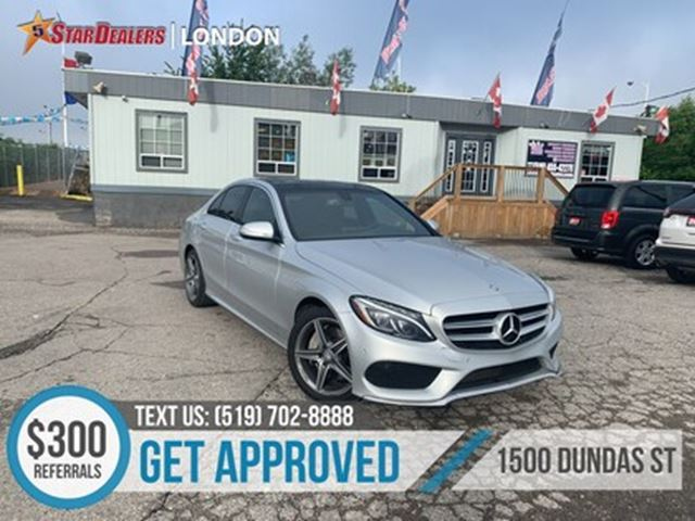 2015 MERCEDES-BENZ C-CLASS C 300 4MATIC   NAV   LEATHER   PANO ROOF   CAM in London, Ontario