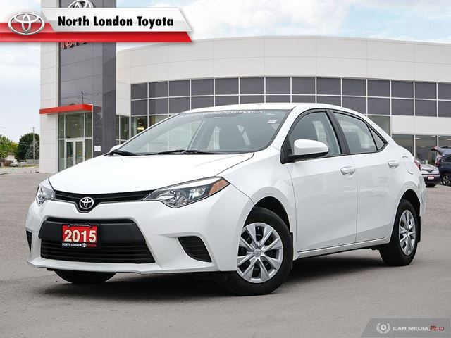 2015 TOYOTA Corolla CE One Owner, No Accidents, Toyota Serviced in London, Ontario
