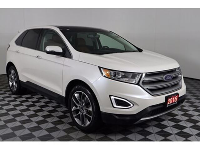 2016 FORD Edge Titanium, 3.5L V6, AUTO, AWD, LEATHER, SUNROOF, BA in Huntsville, Ontario