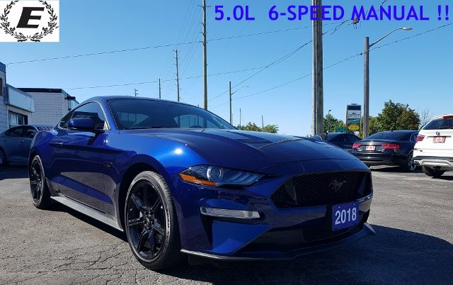2018 FORD Mustang GT 5.0L WITH 6-SPEED MANAUL TRANSMISSION!! in Barrie, Ontario