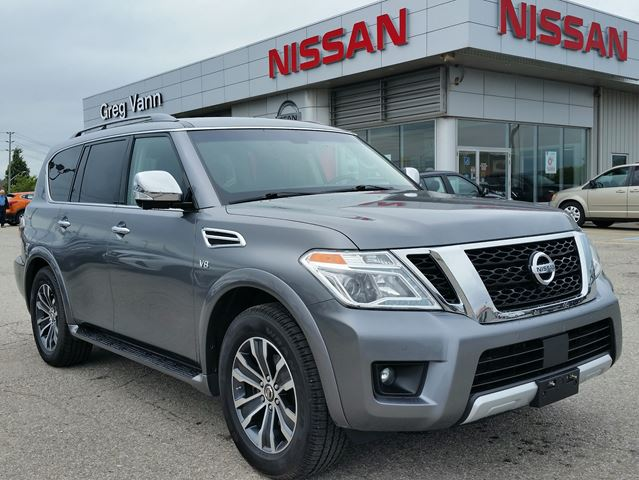 2017 NISSAN ARMADA SL 4WD w/all leather,NAV,3rd row seating,climate control,rear cam,heated seats,propilot assist,power folding rear seats in Cambridge, Ontario