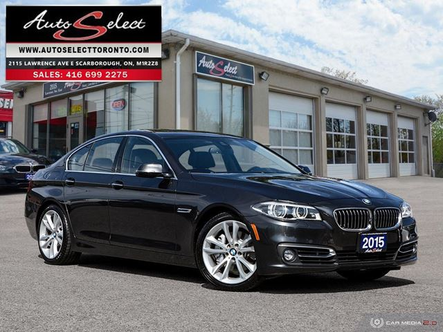 2015 BMW 5 Series xDrive AWD ONLY 85K! **TWIN TURBO** TECHNOLOGY PKG in Scarborough, Ontario