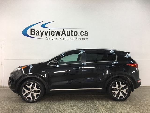 2017 KIA SPORTAGE SX Turbo - AWD! HTD/COOLED LTHR! PANOROOF! NAV! MINT! BLACK! in Belleville, Ontario
