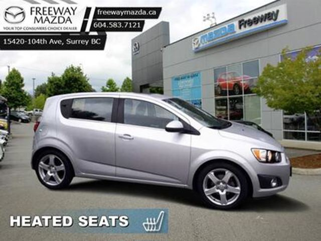 2015 CHEVROLET SONIC LT - Heated Seats -  Backup Camera in Surrey, British Columbia