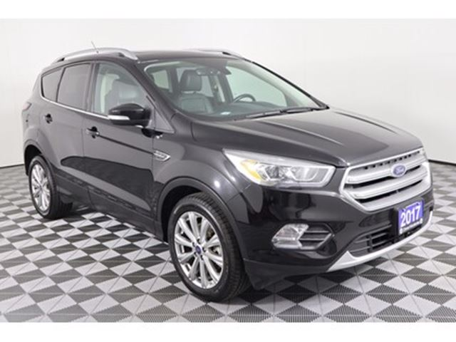2017 FORD Escape TITANIUM, 2.0L 4CYL,4X4, LEATHER, SUNROOF, BACK-UP in Huntsville, Ontario