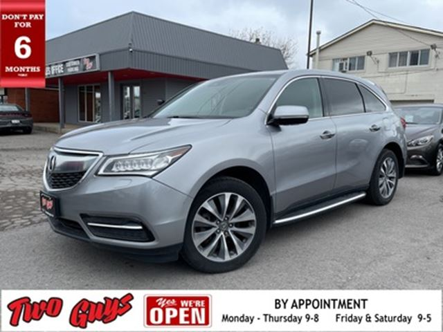 2016 ACURA MDX TECH SH-AWD   DVD   Sunroof   Nav   Leather in St Catharines, Ontario