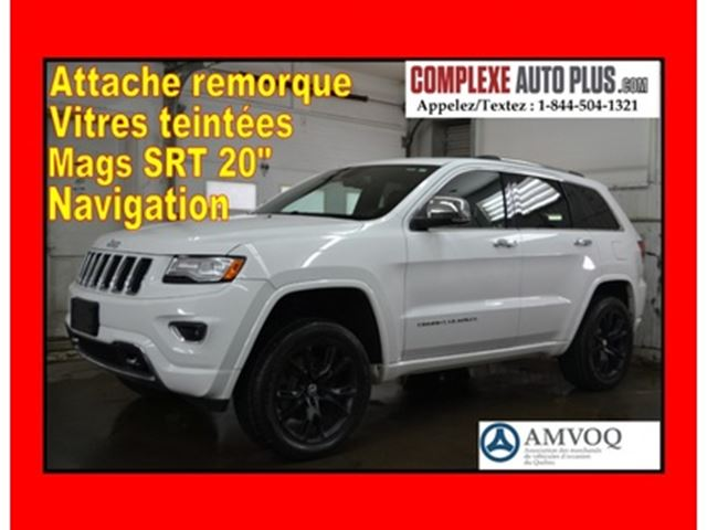 2015 JEEP GRAND CHEROKEE Overland Diesel 3.0L *GPS,Cuir,Toit pano. in Saint-Jerome, Quebec
