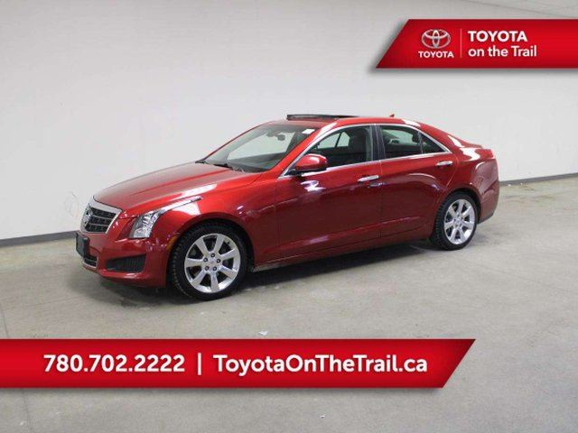 2014 CADILLAC ATS 2.0 TURBO; SUNROOF, LEATHER, BOSE, HEATED SEATS, BUTTON START, WINTER TIRES, BACKUP CAMERA in Edmonton, Alberta