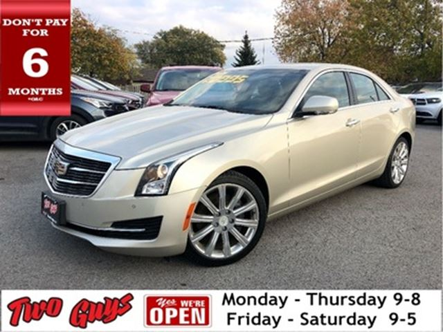2015 CADILLAC ATS 2.0L Turbo Lux   AWD   Nav   Leather   Sunroof in St Catharines, Ontario