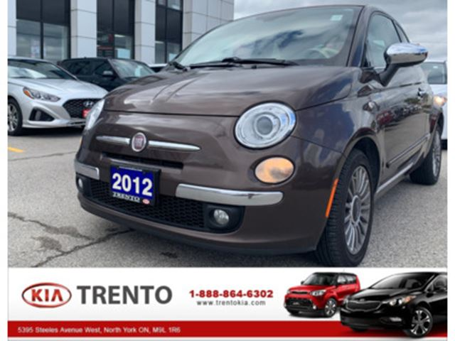 2012 FIAT 500 CONVERTIBLE Lounge   LEATHER SEATS   ONE OWNER in North York, Ontario