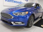 2017 Ford Fusion SE AWD ecoboost with NAV, heated power leather seats, keyless entry and back up cam in Edmonton, Alberta