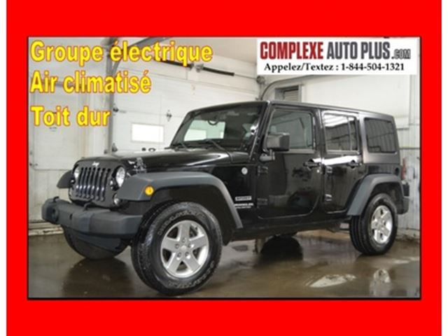 2015 Jeep Wrangler Unlimited Sport *A/C,Mags,Toit dur,Bluetooth in