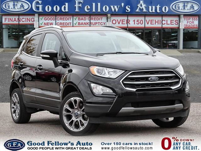 2018 FORD EcoSport TITANIUM, LEATHER SEATS, NAVIGATION, SUNROOF, 4WD in North York, Ontario