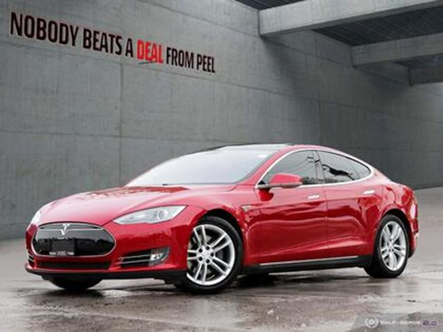 2013 TESLA MODEL S 85, Pano Roof, Pwr Hatch, SubZero, SMART Susp, EV in Mississauga, Ontario