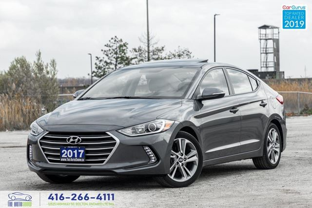 2017 Hyundai Elantra GLS Sunroof CleanCarfax Certified Warranty Finance in Toronto, Ontario