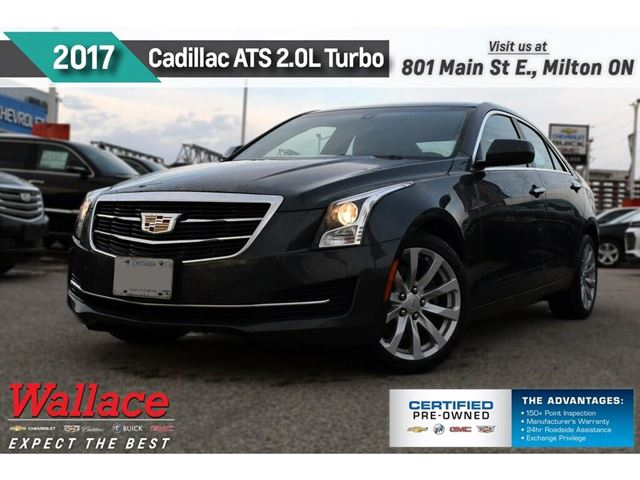 2017 CADILLAC ATS 2.0L Turbo/AWD/HTD STS/BOSE/17s/DUAL ZNE/REAR CAM in Milton, Ontario
