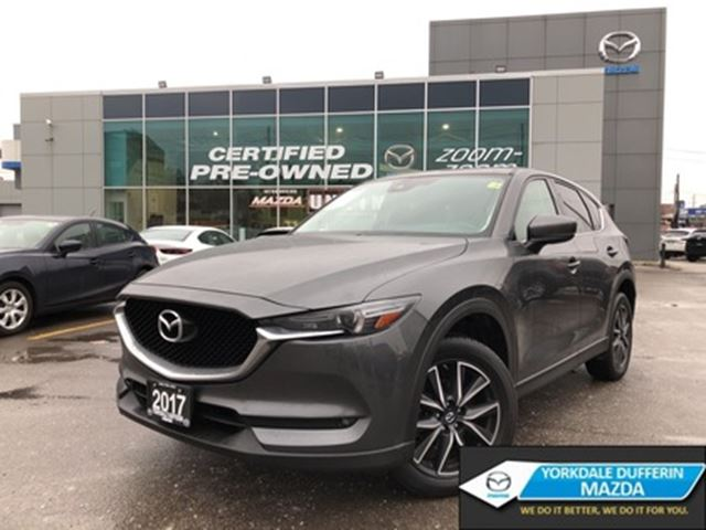 2017 Mazda CX-5 GT AWD at NAVI, ALLOYS, SUNROOF, LEATHER, NO ACCID in