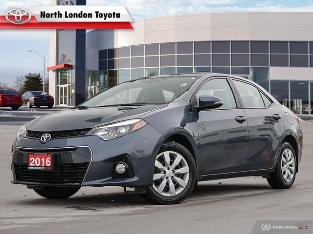 2016 TOYOTA COROLLA S One Owner, No Accidents, Toyota Serviced in London, Ontario