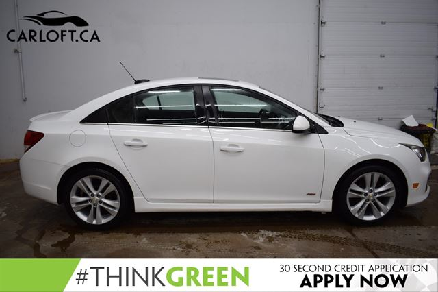 2015 CHEVROLET CRUZE 2LT LEATHER | SUNROOF | HTD SEATS | BACK UP CAM | POWER DRIVER SEAT | SIX SPEED  in Kingston, Ontario