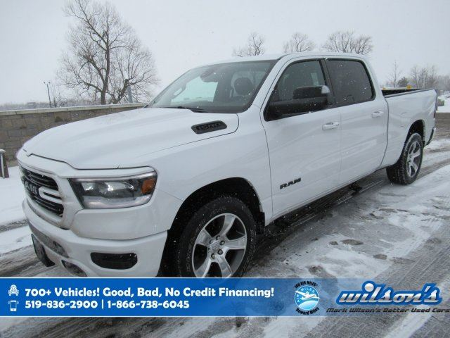 2019 DODGE RAM 1500 Sport Crew Cab 4x4, 5.7L Hemi, Leather, Heated Steering, Heated + Cooled Seats, Power Seat and more! in Guelph, Ontario