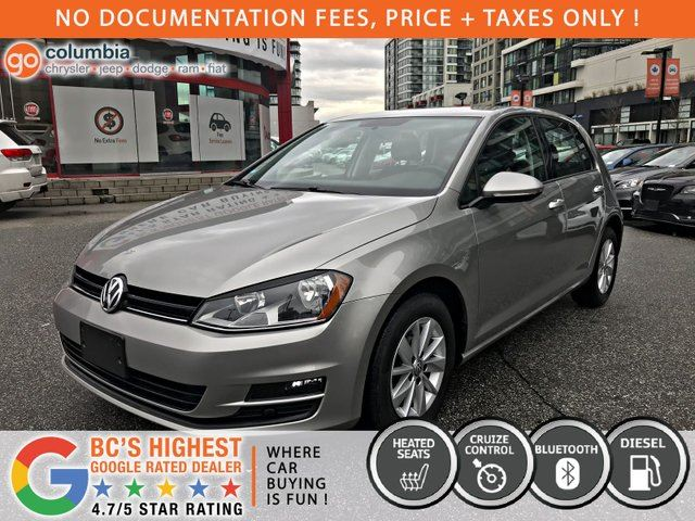 2015 VOLKSWAGEN GOLF Comfortline - No Dealer Fees / Heated Seats / Local in Richmond, British Columbia