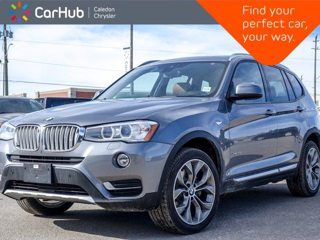 2017 BMW X3 xDrive35i Navi Pano Sunroof Bluetooth Backup Cam Leather Heated Front Seats 19Alloy Rims in