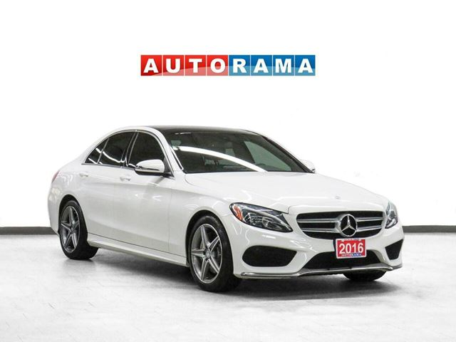 2016 MERCEDES-BENZ C-Class C300 AMG Pkg 4WD Nav Leather PanoRoof in North York, Ontario
