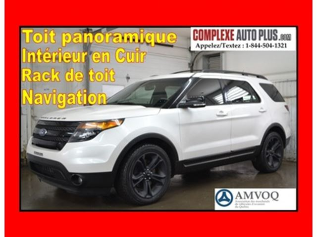 2015 Ford Explorer Sport AWD 3.5L Ecoboost *Navi/GPS,Cuir,Toit pano. in Saint-Jerome, Quebec