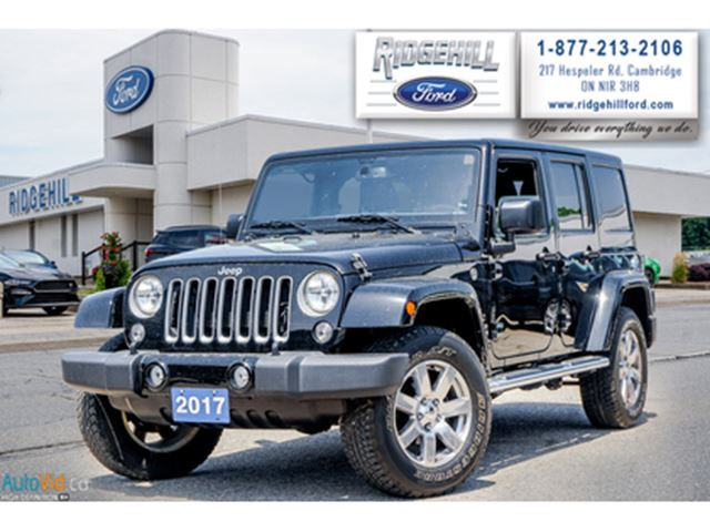2017 JEEP WRANGLER Unlimited 4WD 4dr Sahara in Cambridge, Ontario