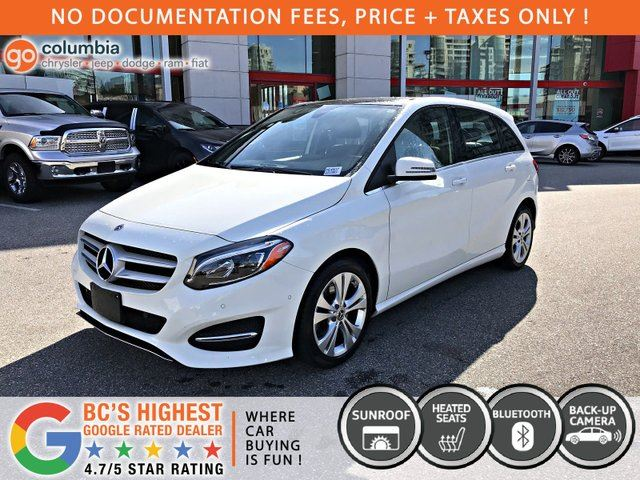 2018 MERCEDES-BENZ B-CLASS B250 4MATIC - Local / Leather / Dual Pane Sunroof / Heated Seats / No Dealer Fees in Richmond, British Columbia