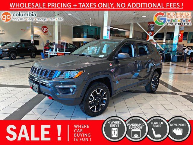 2019 JEEP COMPASS Trailhawk - Roof, Leather! in Richmond, British Columbia