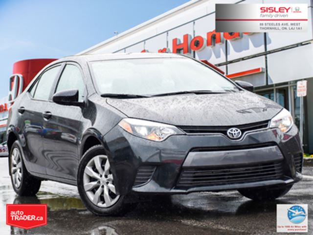 2016 TOYOTA COROLLA LE   1-OWNER   HEATED SEATS   BACKUP CAMERA in Thornhill, Ontario