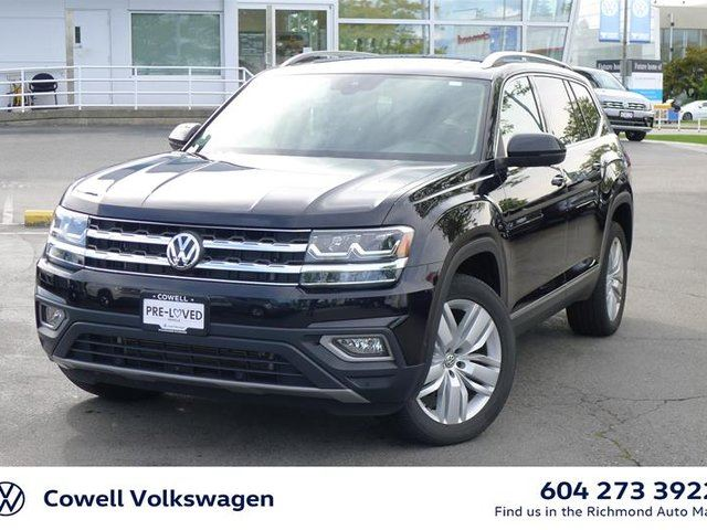 2018 VOLKSWAGEN ATLAS Execline 3.6L 8sp at w/Tip 4MOTION in Richmond, British Columbia